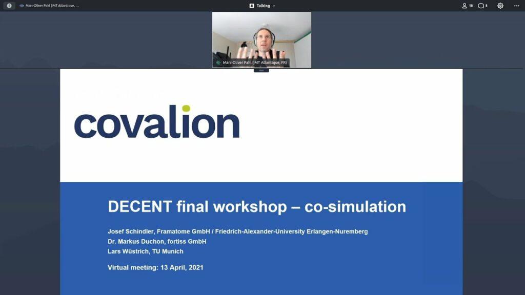 DECENT final project presentation: Co simulation  the virtual smart neighborhood
