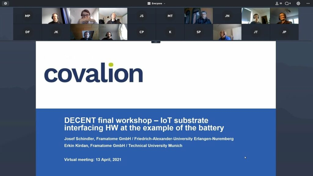 DECENT final project presentation:  IoT substrate interfacing hardware at the example of a battery