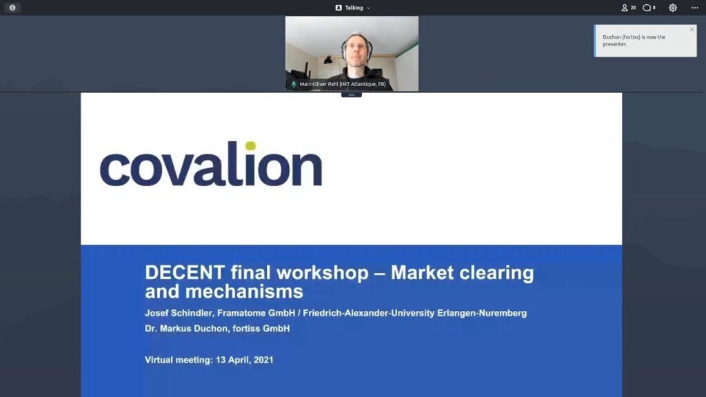 DECENT final project presentation: Market clearing and mechanisms