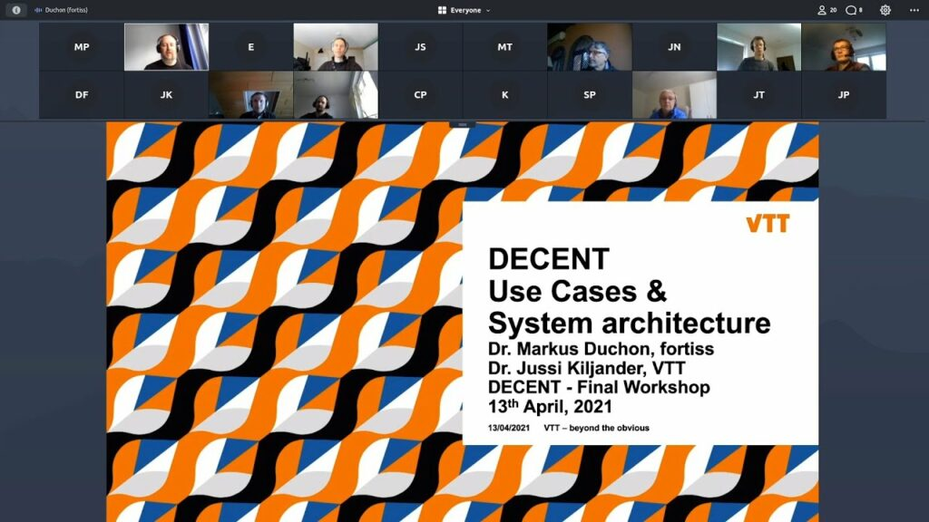 DECENT final project presentation:  Use Cases and System Architecture